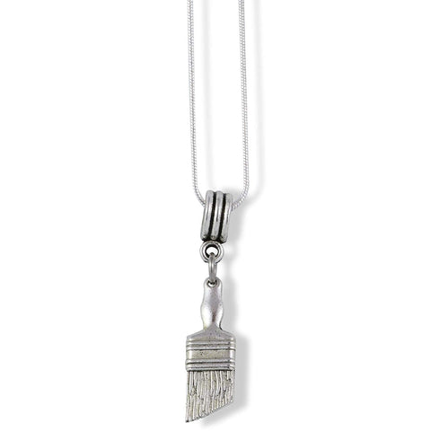 Emerald Park Jewelry Paint Brush Charm Snake Chain Necklace
