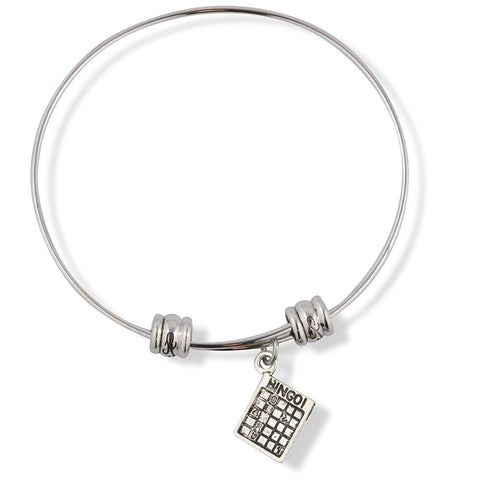 Bingo Playing Card Fancy Charm Bangle