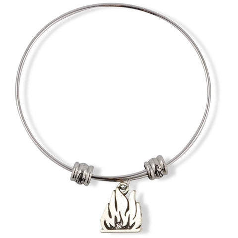 Fire Campfire Fancy Charm Bangle