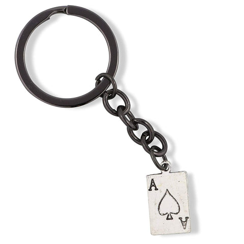 Ace Playing Card Charm Keychain