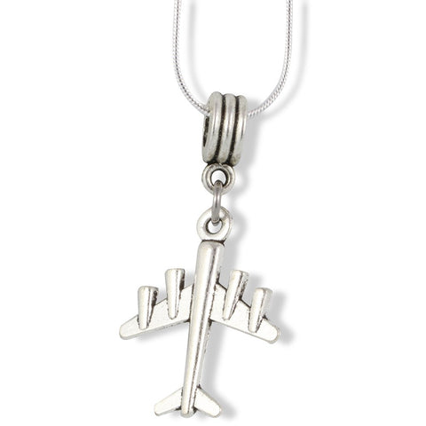 Airplane with 4 engines Charm Snake Chain Necklace