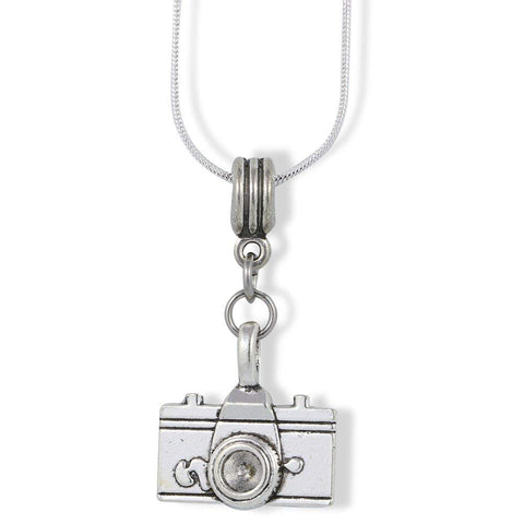 Camera Necklace (Large) Gift Photography Camera Jewelry Charm Snake Chain Necklace