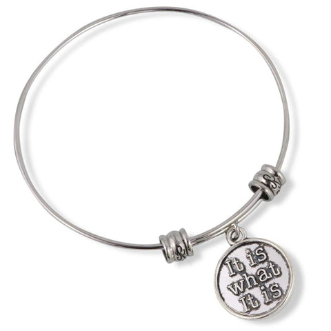 Emerald Park Jewelry It Is What It Is Fancy Charm Bangle