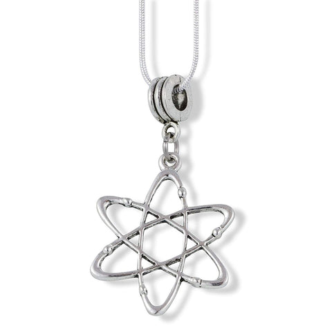 Emerald Park Jewelry Atomic Symbol Science Charm Snake Chain Necklace