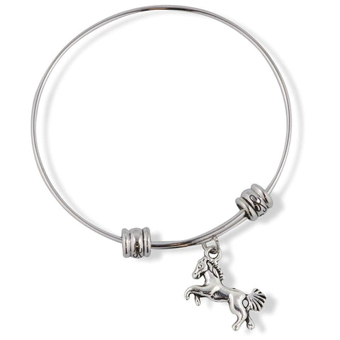 Horse on Hind Legs with Bushy Tail Fancy Charm Bangle