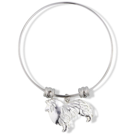 EPJ Collie Dog Fancy Charm Bangle