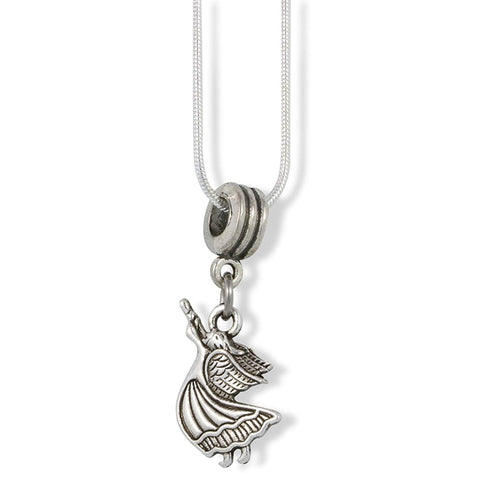 Angel with Horn Instrument Charm Snake Chain Necklace