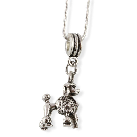 Emerald Park Jewelry Poodle Dog Snake Chain Necklace