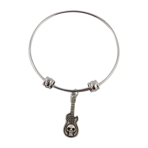 Guitar with Skull Fancy Bangle