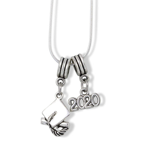 2020 Grad Graduation Charm Snake Chain Necklace