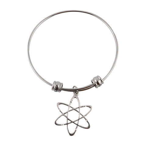 Atomic Science Symbol Fancy Bangle