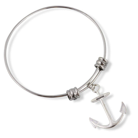 Large Boat Anchor Fancy Bangle