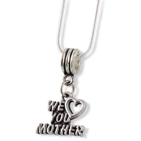 We Heart ( Love ) You Mother Snake Chain Necklace