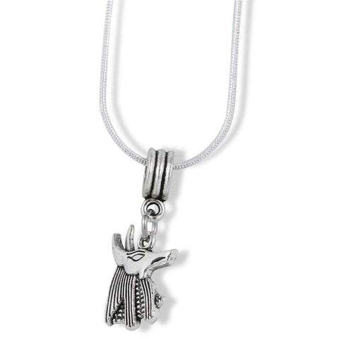 Anubis Dog Egyptian God Charm Snake Chain Necklace