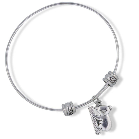 Emerald Park Jewelry Koala Bear on Tree Fancy Charm Bangle