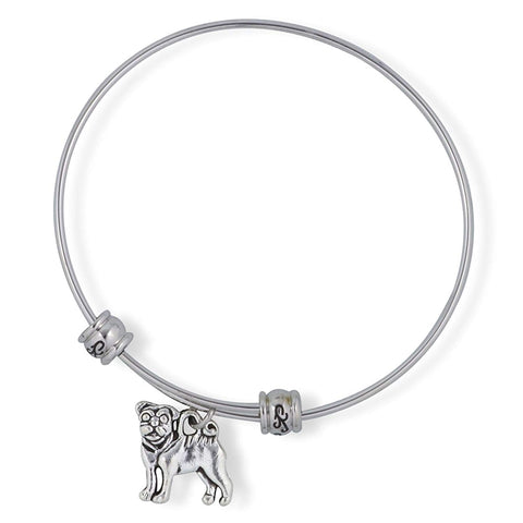 Emerald Park Jewelry Pug French Bulldog Dog Fancy Charm Bangle