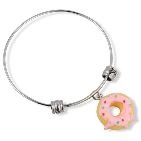 Donut ( Yellow with Pink Icing and Sprinkles) Fancy Bangle