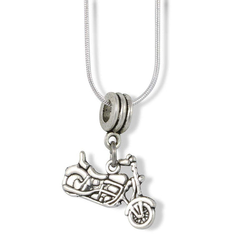 Street Motorcycle MotorBike Charm Snake Chain Necklace