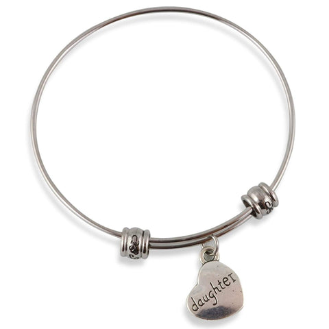 Daughter on a Heart Fancy Bangle