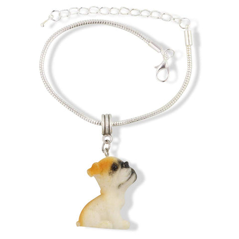 French Bulldog Enamel 3D Dog Bracelet