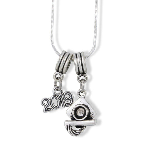 2019 Grad Graduation Charm Snake Chain Necklace