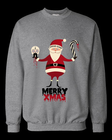 satan claus satanic christmas sweater - creature craft co