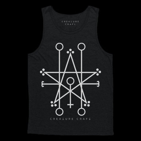 Demon sigil satanic tank top - creature craft co