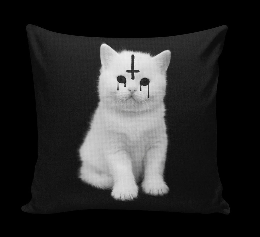 Lucipurr Satanic Cat Pillow