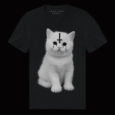 Lucipurr Satanic Cat T Shirt Mens - creature craft co