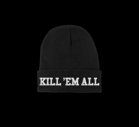 kill em all beanie - creature craft co