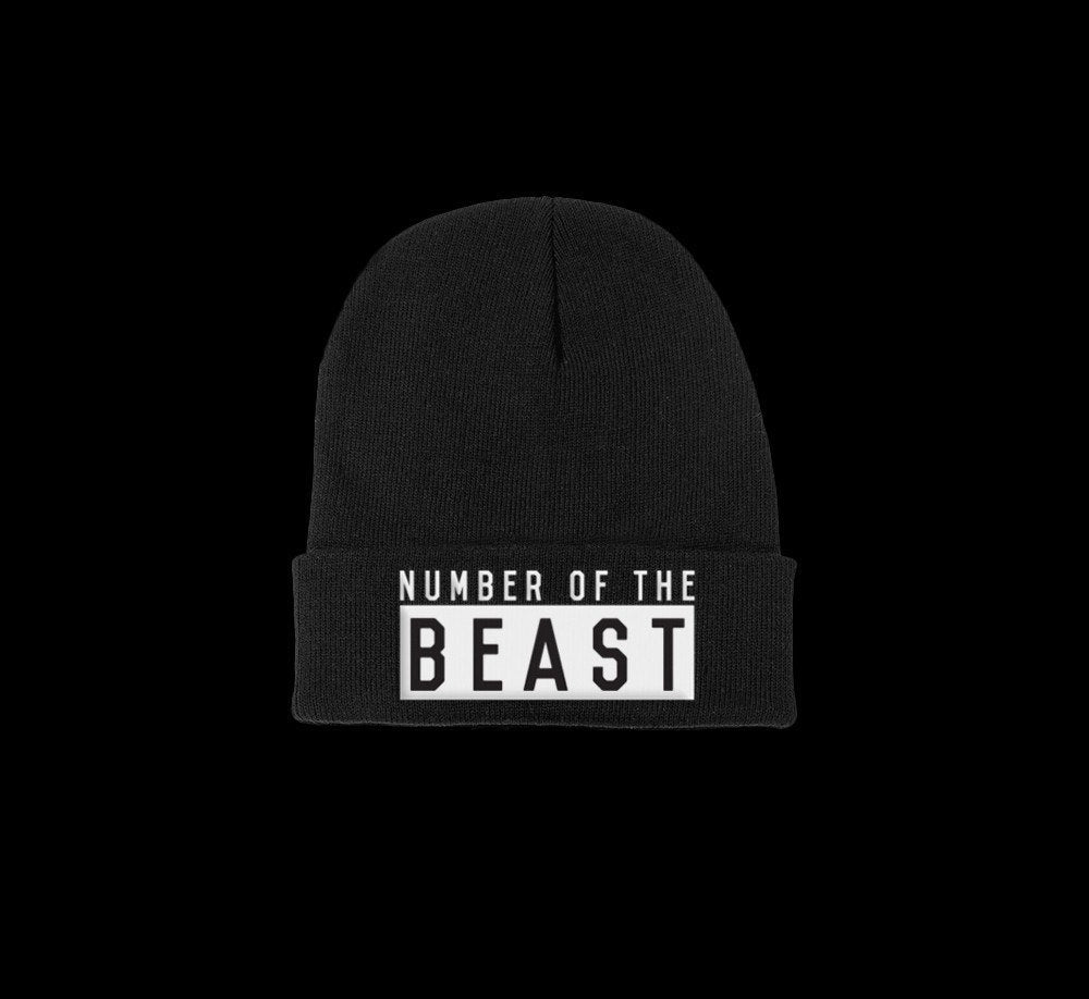 number of the beast satanic beanie - creature craft co