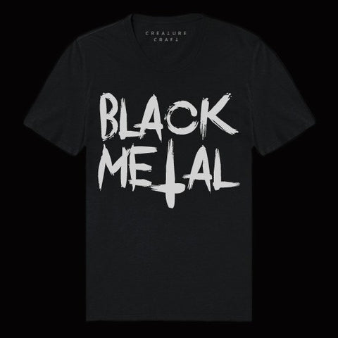 black metal shirt mens - creature craft co