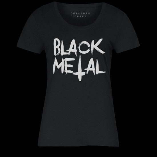 black metal shirt womens - creature craft co