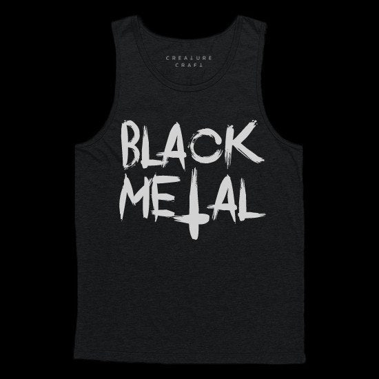 black metal tank top - creature craft co