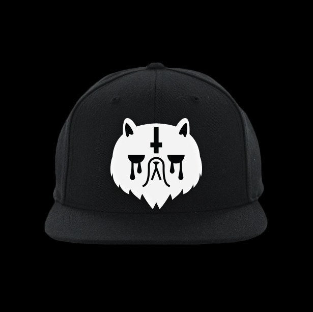 grumpy cat satanic snapback hat - creature craft co