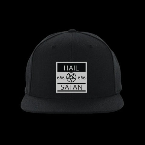 hail satan snapback hat - creature craft co