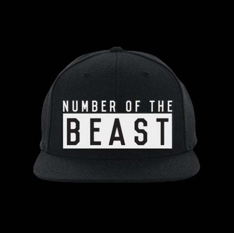 number of the beast satanic snapback hat - creature craft co