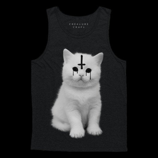 lucipurr satanic cat tank top mens - creature craft co