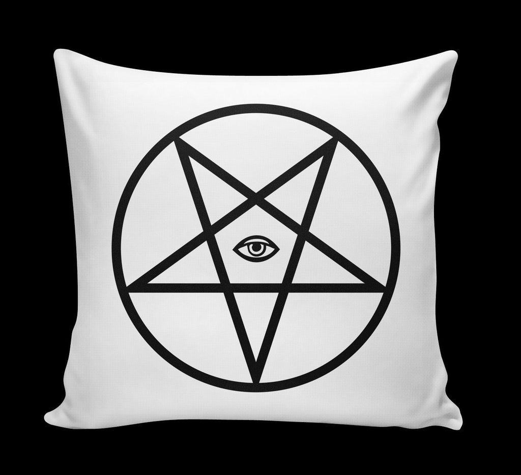pentagram pillow white - creature craft co