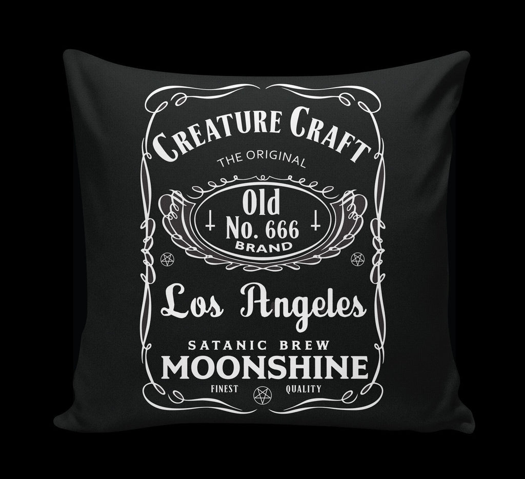 satanic moonshine pillow - creature craft co