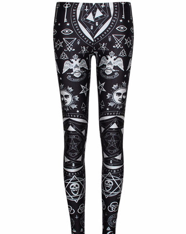 Occult Idols & Symbols Leggings