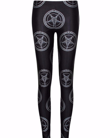 Classic Baphomet Pentagram Leggings