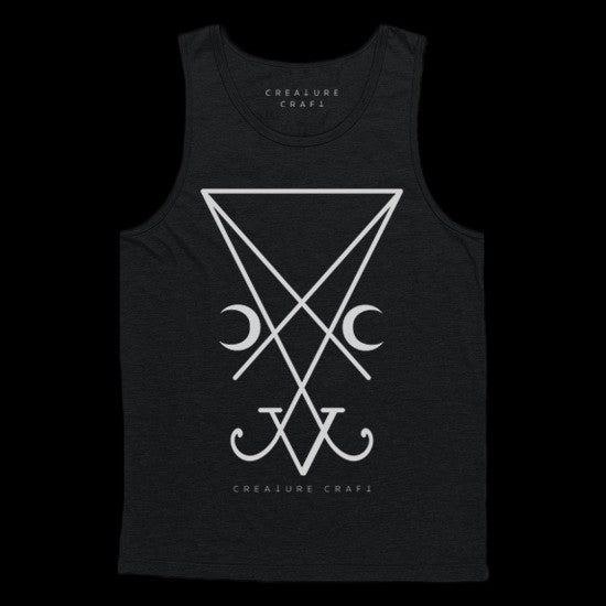sigil of lucifer tank top mens - creature craft co