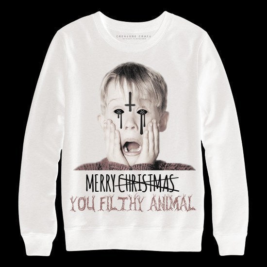 Home alone satanic christmas sweater