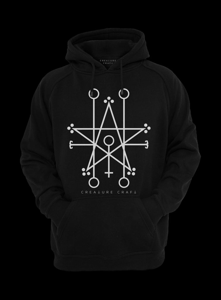 Demon sigil satanic hoodie - creature craft co