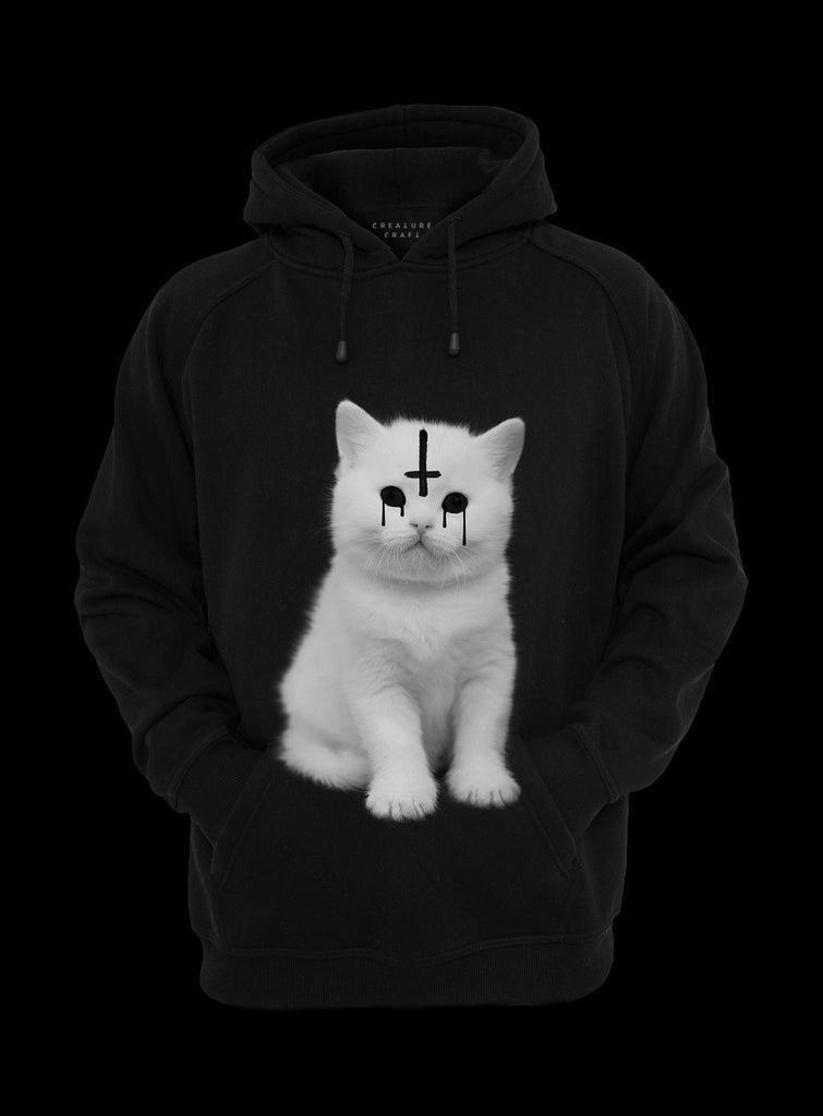 lucipurr satanic cat hoodie - creature craft co