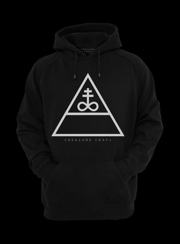 triangular satan hoodie - creature craft co.