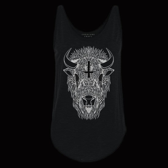 buffalo shaman womens tank top - creature craft co