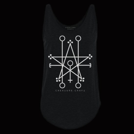 Demon sigil satanic tank top womens - creature craft co