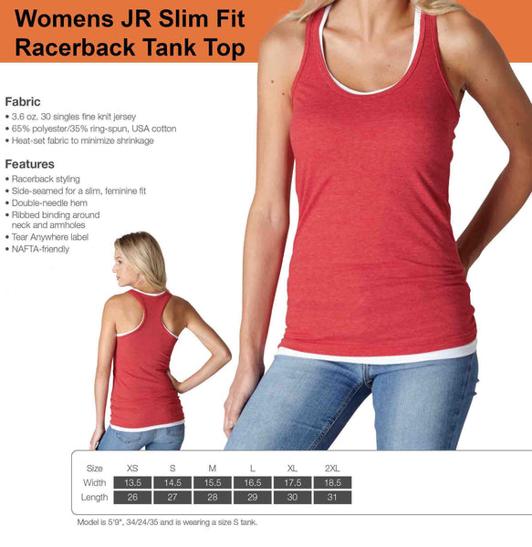 Womens JR Slim Fit Racerback Tank Top